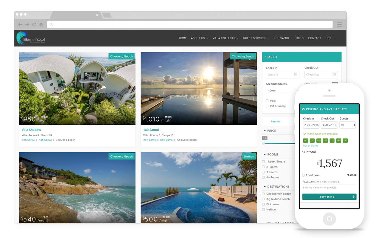 Powerful booking and search engine that's built for scale